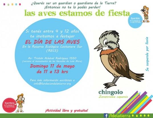 Flyer Día de las aves con dire